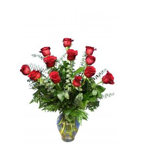 DiBella Flowers & Gifts Las Vegas - One Dozen Long Stemmed Roses *Please Specify Color