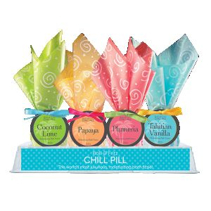 DiBella Flowers & Gifts Las Vegas -  * Chill Pills are a luxurious addition to any bath * Moisturizing Sweet Almond Oil that leaves skin feeling soft * Just drop half in a full bath and watch the magic begin! * Chill Pills offer two baths per ball * Made in the USA  Hydra Aromatherapy Tropical Chill Pill Bath Fizzies *Price is per chill pill *Please choose type or we will send out favorite