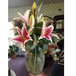 DiBella Flowers & Gifts Las Vegas - Beautiful Stargazer lilies in a keepsake vase. So pretty!