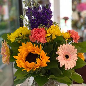DiBella Flowers & Gifts Las Vegas - Keepsake topaz studded vase and candleholder full of wild flowers!