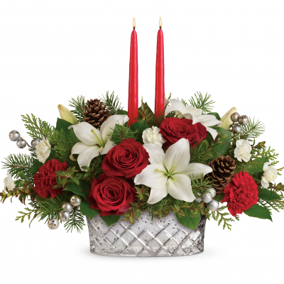 DiBella Flowers & Gifts Las Vegas - Sparkling Season Centerpiece