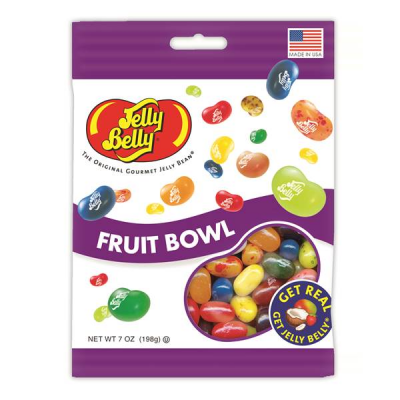 DiBella Flowers & Gifts Las Vegas - Colorful and juicy, the Jelly Belly Fruit Bowl Jelly Beans are a must-to-have snack. They come in attractive flavors that include cherry, juicy pear, peach, green apple and many more.