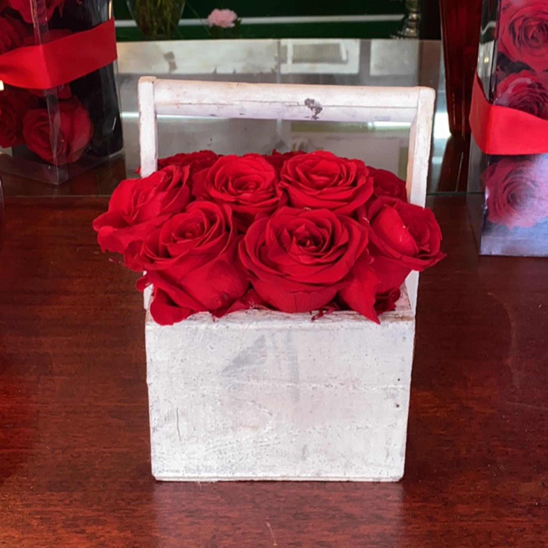DiBella Flowers & Gifts Las Vegas - Forever roses in distressed wooden box. Beautiful!
