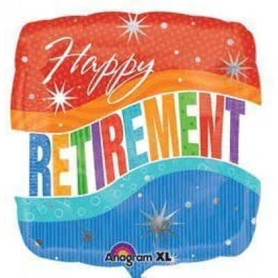 DiBella Flowers & Gifts Las Vegas - RETIREMENT RED AND BLUE MYLAR
