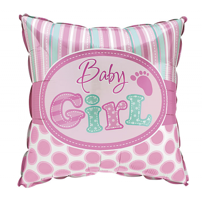 DiBella Flowers & Gifts Las Vegas - BABY GIRL SQUARE FOOTPRINT MYLAR