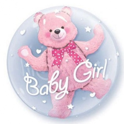 DiBella Flowers & Gifts Las Vegas - BABY GIRL DOUBLE BUBBLE MYLAR