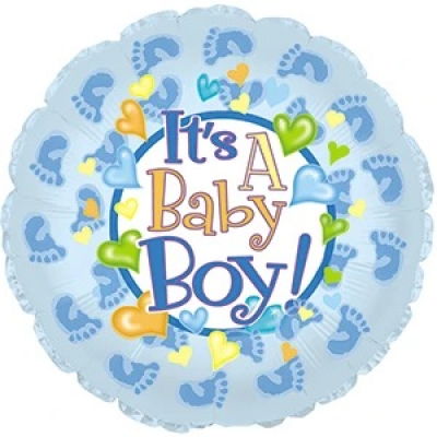DiBella Flowers & Gifts Las Vegas - ITS A BABY BOY FOOTPRINTS MYLAR