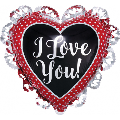 DiBella Flowers & Gifts Las Vegas - I LOVE YOU XL RUFFLE BALLOON 21'' BY 23''