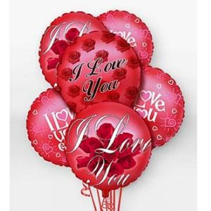 DiBella Flowers & Gifts Las Vegas - When you want your gift to make a big impression, give them this fun Balloon Bouquet. The bouquet arrives with 6 mylar balloons tied together with a ribbon. The I Love You balloon designs will vary.