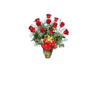 DiBella Flowers & Gifts Las Vegas - One Dozen Deluxe Long Stemmed Roses *Please Specify Color * Valentines pricing may vary