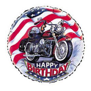 Happy Birthday Motorcycle Mylar Addon