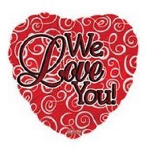 DiBella Flowers & Gifts Las Vegas - We Love You Mylar