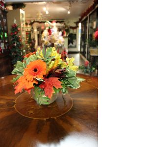 DiBella Flowers & Gifts Las Vegas - Fall Sunset Gerbera Daisies, Alstromeria Lilies, Safari Sunsets, Fall Leaves and lush seasonal greens.