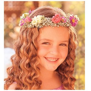 DiBella Flowers & Gifts Las Vegas - Flower Girl Headpiece Set a crown on the cutest member of your wedding, and she'll feel like a princess.