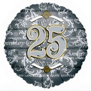 DiBella Flowers & Gifts Las Vegas - Celebrate your Silver Year with our 25th Anniversary Mylar