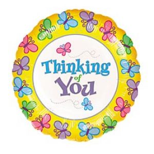 DiBella Flowers & Gifts Las Vegas - Bright and Cheery way to show you are thinking of that someone special! Thinking of You Butterflies Mylar