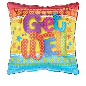 DiBella Flowers & Gifts Las Vegas - Get Well Soon on Square Mylar 17 inch