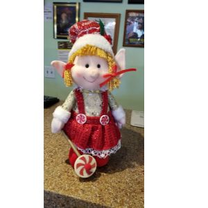 DiBella Flowers & Gifts Las Vegas - Elf Girl Figurine, Comes in 3 different outfits, Elf clothes may vary from picture