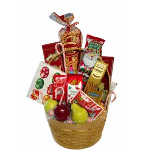 DiBella Flowers & Gifts Las Vegas - Goodie Basket- Seasonal assorted treats for the holidays! Jelly Bellies, cookies, chocolates and more! *Items will vary