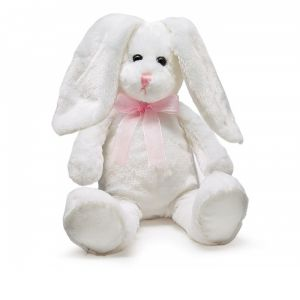 DiBella Flowers & Gifts Las Vegas - PLUSH WHITE BUNNY WITH SHEER PINK BOW