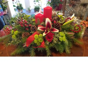 DiBella Flowers & Gifts Las Vegas - The prefect addition to any holiday table! Fresh lilies, roses, holiday greens, coffee bean and more.