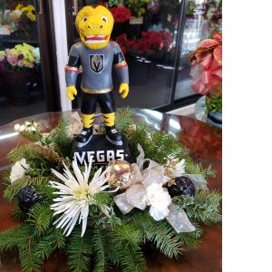 DiBella Flowers & Gifts Las Vegas - We love our knights and wanted to celebrate with our favorite mascot! Fresh holiday booms with keepsake Chance figure. *keepsake in limited quantities.