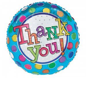 "DiBella Flowers & Gifts Las Vegas - 17""PACKAGE THANK YOU DOTS BALLOON"