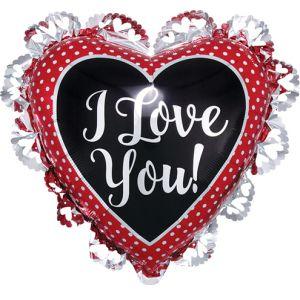 DiBella Flowers & Gifts Las Vegas - I LOVE YOU XL RUFFLE BALLOON 21'' BY 23''