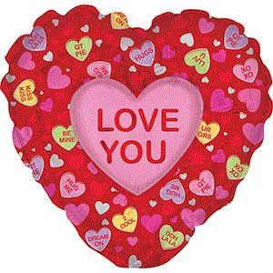 "DiBella Flowers & Gifts Las Vegas - 36"" JUMBO I LOVE YOU CANDY HEART MYLAR SOOO BIG!"