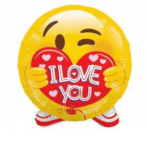 DiBella Flowers & Gifts Las Vegas - I LOVE YOU EMOJI MYLAR