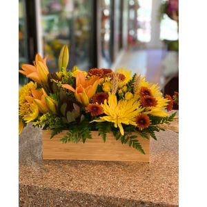 DiBella Flowers & Gifts Las Vegas - Fresh fall bouquet perfect for a desktop or dining room table.