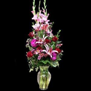 DiBella Flowers & Gifts Las Vegas - Show someone they are Truly Loved! Gladiolus, Fragrant Stargazer Lilies, Gerberas, Alstromeria Lilies and Roses! The perfect gift for your Valentine!