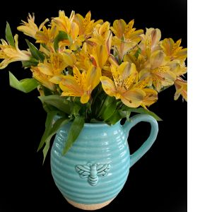 DiBella Flowers & Gifts Las Vegas - How adorable busy bee picture full of long lasting alstroemeria lilies. *These lilies come in an assortment of colors! Please be sure to pick one!