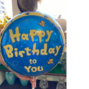 DiBella Flowers & Gifts Las Vegas - Pooh themed happy birthday Mylar.