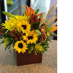 DiBella Flowers & Gifts Las Vegas - Perfect for your table or a festive fall gift. In keepsake bamboo box.
