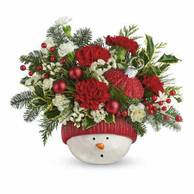 DiBella Flowers & Gifts Las Vegas - Snowman Ornament with Roses