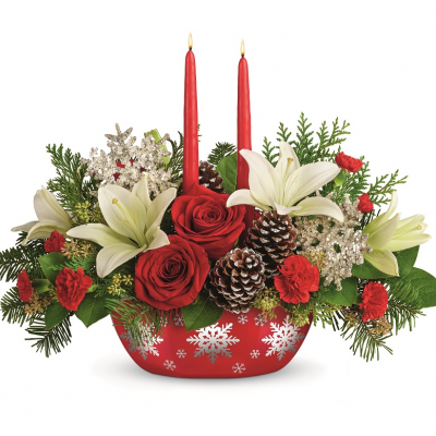 DiBella Flowers & Gifts Las Vegas - Snowflake Treasure Centerpiece