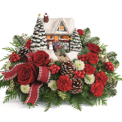 DiBella Flowers & Gifts Las Vegas - Thomas Kinkade Hero's Welcome Bouquet Roses and Carnations