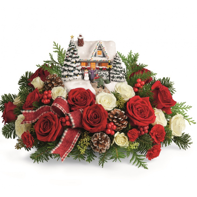 DiBella Flowers & Gifts Las Vegas - Thomas Kinkade Homecoming Hero Bouquet Red Roses and Spray Roses