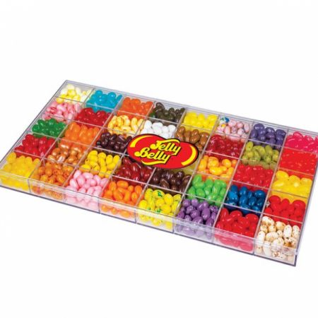 Jelly Belly 40 Flavor, 32 oz Clear Gift Box Addon