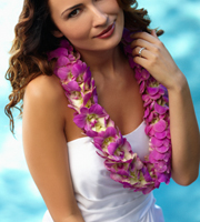 DiBella Flowers & Gifts Las Vegas - The FTD® Brilliant Shades of Love™ Lei is a tropical way to celebrate your wedding day. Perfect for themed weddings or one set on the beach or a beautiful island, the lei of fuchsia double dendrobium orchids is a fantastic way to add to the festivities.
