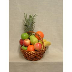 Gift basket with fruit. Substitutions may be necessary depending on availability of product.