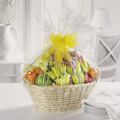 Gift basket with fruit items.  Substitutions may be necessary depending on availability of product.