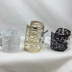 These cuffs ad a bit of glamour to any flower wristlet and can be worn as jewelry after your special occasion.