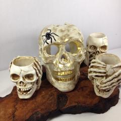 Skeleton Candle Holders!