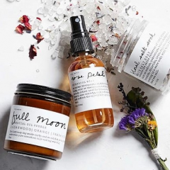 Spoil your loved one with a trio from Among the Flowers, a beautiful combo of rose petal hydration mist, a essential oil and soy wax candle, and a floral salt soak. An invitation for relaxation.  All products made locally in Placerville, CA.
