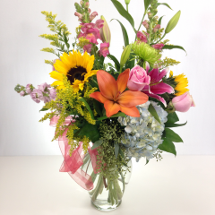 Celebrate our 71st Anniversary with us!  An arrangement valued at $100 for only $71! Arrangement will be a fresh, bright mix of flowers arranged in a vase. (arrangement pictured for example only, actual arrangement will vary!)  This Relles Anniversary Special is for local orders only.  Special runs through Sunday, October 22nd!