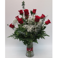 Dozen Red Roses - As Shown Deluxe