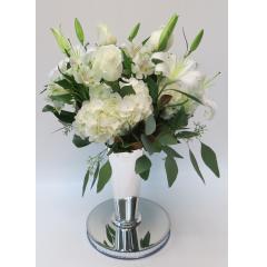 KD-117 Elegant Whites Vase - Deluxe