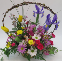 KD-3417 Spring Basket Bouquet - As Shown